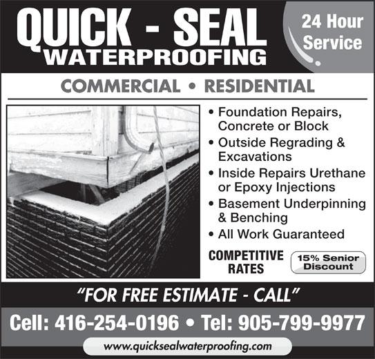 Quick Seal Waterproofing